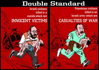 Double standard (Latuff)